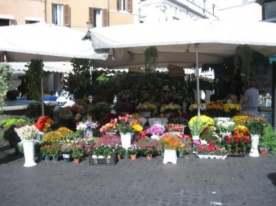 Flowers Market in Rome