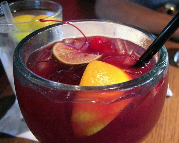 Rich and fruity sangria