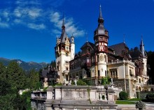 One Day tour into Transylvania. Sinaia. Romania