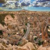 View from the heights of Cavusin, Cappadocia, Cavusin