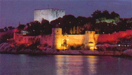 Kusadasi Fortress at night